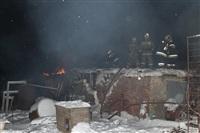 В пос. Менделеевский сгорел частный дом., Фото: 2