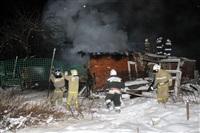 В пос. Менделеевский сгорел частный дом., Фото: 6
