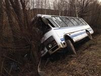 В Тульской области перевернулся пассажирский автобус, Фото: 4