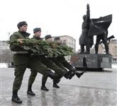 Возложение цветов к памятнику на площади Победы. 21 февраля 2014, Фото: 13