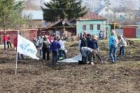 Генеральную уборку в Туле на Пролетарской набережной провели работники КБП, Фото: 34