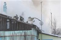 Пожар в жилом бараке, Щекино. 23 января 2014, Фото: 6