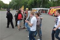 """Файер-шоу от болельщиков """"Арсенала"""". 16 мая 2014 года, Центральный парк, Фото: 51"""