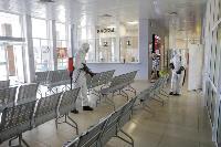 Тульские спасатели продезинфицировали автовокзал «Восточный», Фото: 42