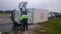 Авария на трассе Тула-Калуга. 04.07.2014, Фото: 2