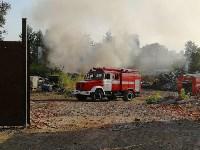 В Туле загорелось «кладбище» автомобилей, Фото: 8