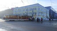 На улице Советской в Туле трамвай сошел с рельсов, Фото: 1