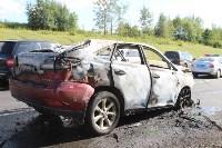 В жутком ДТП на М2 под Тулой сгорели три авто: двое погибли, Фото: 7