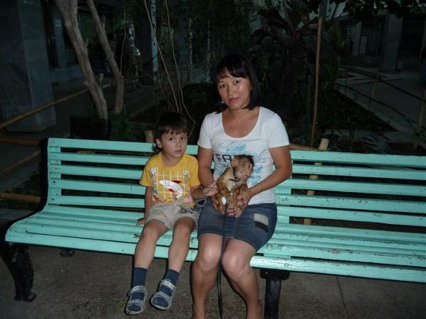 моя любимая с малым и маленьким обезьяном