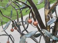 """Кованая вишня в сквере """"Тульское чаепитие"""", Фото: 2"""