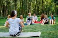 В Центральном парке прошла тренировка по пилатесу, Фото: 8