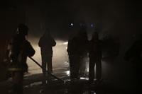 Пожар в здании бывшего кинотеатра «Искра». 10 марта 2014, Фото: 5
