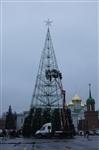 Установка новогодней елки на площади Ленина, Фото: 9