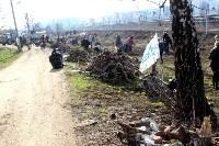 Генеральную уборку в Туле на Пролетарской набережной провели работники КБП, Фото: 29