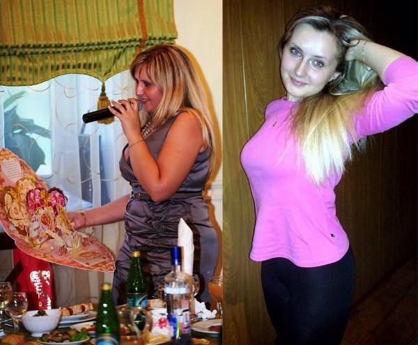 Слева август 2011, справа январь 2012. 80кг vs 57 кг.