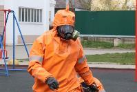 Сотрудники МЧС проводят дезинфекционные работы, Фото: 5