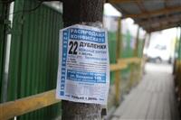 Обклейка деревьев рекламой, Фото: 1