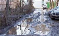 Тула, ул. Металлургов, 79. Причина грязи – нет покрытия, нет бордюров, нет дренажа, Фото: 4