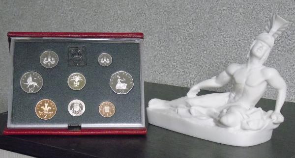 Великобритания 1990 год (годовой набор) Номиналы от 1 фунта до 1 пенни  PROOF