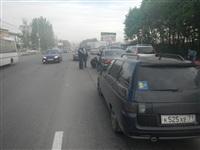 На Новомосковском шоссе столкнулись три автомобиля, Фото: 2