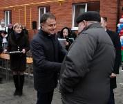 Губернатор Владимир Груздев вручил ключи от квартир новоселам в Узловском районе, Фото: 7