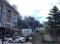 Загорелся недостроенный ТЦ на Красноармейском проспекте, Фото: 10