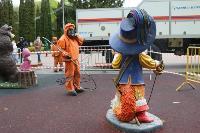 Тульские спасатели продезинфицировали Центральный парк, Фото: 5