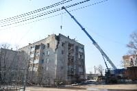 У дома, поврежденного взрывом в Ясногорске, демонтировали опасный угол стены, Фото: 40