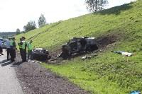 В жутком ДТП на М2 под Тулой сгорели три авто: двое погибли, Фото: 10