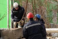 Демонтаж бетонных плит на Ханинском проезде, 10.02.2016, Фото: 3