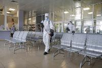 Тульские спасатели продезинфицировали автовокзал «Восточный», Фото: 45