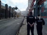 Загорелся недостроенный ТЦ на Красноармейском проспекте, Фото: 60
