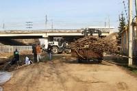 Генеральную уборку в Туле на Пролетарской набережной провели работники КБП, Фото: 22