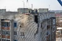 У дома, поврежденного взрывом в Ясногорске, демонтировали опасный угол стены, Фото: 45