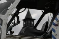 В кремле приземлился вертолет, который установит шпиль колокольни, Фото: 16