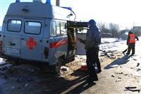 """На трассе М2 автомобиль """"скорой"""" столкнулся с автовозом., Фото: 15"""