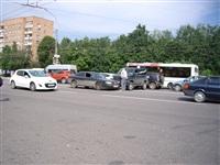 На Зеленстрое «УАЗ Патриот» протаранил «Ауди». 6 июня 2014, Фото: 1