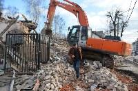 Снос аварийного дома на улице Октябрьской, Фото: 49