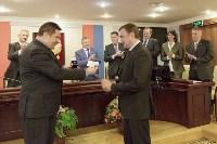 Алексей Дюмин получил знак и удостоверение губернатора Тульской области, Фото: 2
