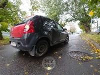 На ул. Тимирязева машина повалила дерево после ДТП с такси, Фото: 1