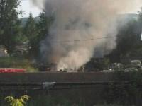 В Туле загорелось «кладбище» автомобилей, Фото: 1