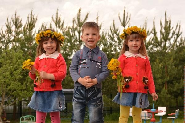 Мои тройняшки - улыбашки!!!