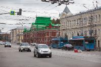 На ул. Советской в Туле убрали дорожные ограждения с трамвайных путей, Фото: 7