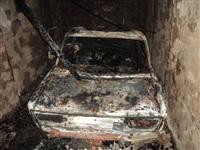 Сгоревший в Киреевском районе автомобиль, Фото: 3