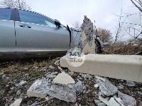 В Туле Mercedes повалил фонарный столб, Фото: 9