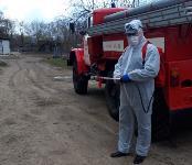 Сотрудники МЧС проводят дезинфекционные работы, Фото: 13