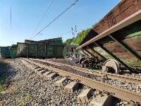 В Тульской области грузовой поезд сошел с рельсов, Фото: 37