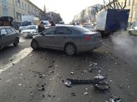 ДТП на пересечении улицы Пушкинская и проспекта Ленина. 20 января 2014, Фото: 1
