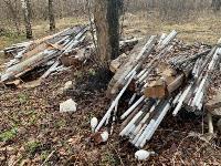 В лесу в Узловском районе обнаружена свалка ртутных ламп, Фото: 12