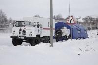 В Тульской области развернуты два мобильных пункта обогрева, Фото: 12
